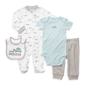Carter's Little Speedster Turtle 4 PC Outfit Set